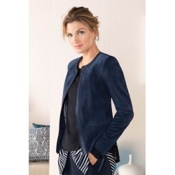 Grace Hill Leather Zip Front Jacket - Navy - 20 found on Bargain Bro India from Rockmans for $190.60