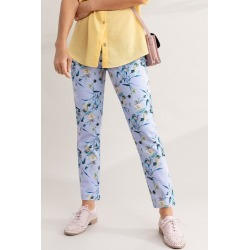 Capture Printed Cotton Sateen 7/8 Pants - Lilac Print - 14 found on Bargain Bro from Katies for USD $14.80