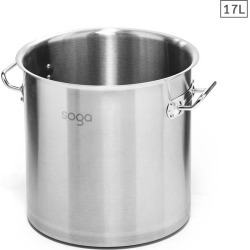 Soga Ss Top Grade Stock Pot No Lid 17l 28cm 18/10 - Stainless Steel - ONE found on Bargain Bro from Noni B Limited for USD $38.10
