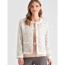 Liz Jordan Pearl Button Jacket - Ivory - 10 found on Bargain Bro Philippines from crossroads for $66.80