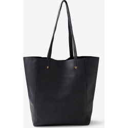 Rivers Pu Tote Bag With Stud Detail - Black - ONE found on Bargain Bro India from Rockmans for $17.72