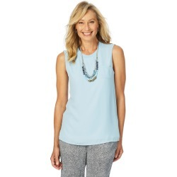 W.lane Double Sleeveless Woven Tee - Powder - 8 found on Bargain Bro Philippines from W Lane for $15.72
