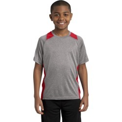 Sport-tek Youth Heather Colorblock Contender Tee - Vintage Heather/ True Red found on Bargain Bro India from crossroads for $17.71