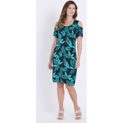 W.lane Cold Shoulder Fern Print Dress - Multi - 10 found on Bargain Bro India from Rockmans for $28.40