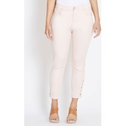 Rockmans Ankle Length Panelled Button Hem Jean - Pearl Pink - 8 found on Bargain Bro from BE ME for USD $10.54
