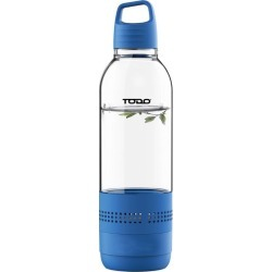 Todo Bluetooth Water Bottle Speaker 400ml Portable Rechargeable - Blue - One found on Bargain Bro from Noni B Limited for USD $11.74