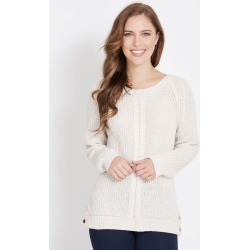 Rockmans Long Sleeve Crew Neck Cable Front Jumper - Cream - M found on Bargain Bro India from Noni B Limited for $14.48