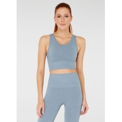 Jerf Womens Luz Seamless Crop Top - Grey - S found on Bargain Bro from Noni B Limited for USD $32.88