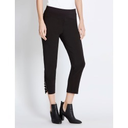 Rockmans 7/8 Eyelet Tab Detail Pant - Black found on Bargain Bro India from W Lane for $15.55