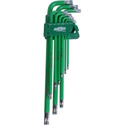 888 Tools Key Set 9pc Torx Hex (green) - Multi