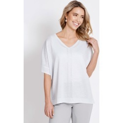 Rockmans Extended Sleeve Sparkle Jumper - Silver - S found on Bargain Bro Philippines from Rockmans for $14.48