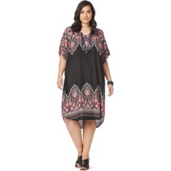 Beme Elbow Sleeve Dress - Black Paisley - M found on Bargain Bro from Rockmans for USD $18.03