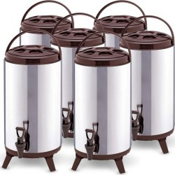 Soga 16l Portable Insulated Brew Pot With Dispenser 6pack - Stainless Steel - ONE