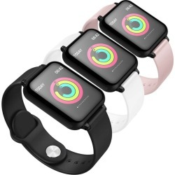Soga Waterproof Heartrate Monitor Fitness B57c Watch 3pack - Black/pink/white - ONE found on Bargain Bro from Noni B Limited for USD $118.29