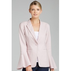 Grace Hill Linen Blend Blazer - Blush - 10 found on Bargain Bro India from Rockmans for $45.74