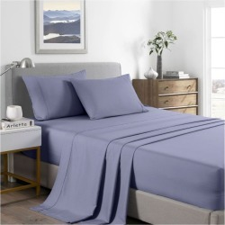 Royal Comfort 2000tc Bamboo Cooling Sheet Set - Lilac Grey - Double found on Bargain Bro from Noni B Limited for USD $31.11
