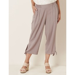 Millers Crop Tie Hem Zip Detail Rayon Pant - Mocha - 26 found on Bargain Bro Philippines from W Lane for $10.76
