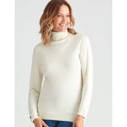 Millers Volume Roll Neck Jumper - Cream - M found on Bargain Bro Philippines from crossroads for $31.43