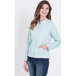 W.lane Lace-up Sleeve Jacket - Mint - 14 found on Bargain Bro from Katies for USD $35.51