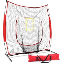 Everfit Portable Baseball Training Net Stand Softball Practice Sports Tennis Red - One found on Bargain Bro India from Rockmans for $90.35