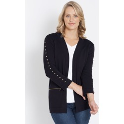 Rockmans 3/4 Sleeve Edge To Edge Studded Cardi - True Navy - M found on Bargain Bro India from Rivers for $15.55