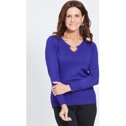 Millers Long Sleeve Buckle Neck Jumper - Grape found on Bargain Bro Philippines from crossroads for $10.76