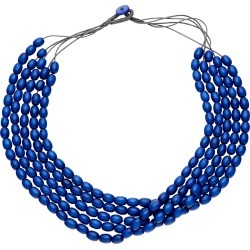 W.lane Wood Strand Necklace - Blue found on Bargain Bro India from crossroads for $16.13