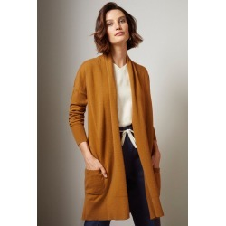 Grace Hill Cashmere Blend Cardigan - Gold - XS found on Bargain Bro from crossroads for USD $67.51