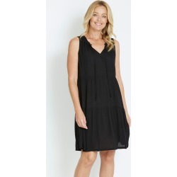 Rivers Textured Tiered Boho Dress - Black - 10 found on Bargain Bro from Rockmans for USD $16.90
