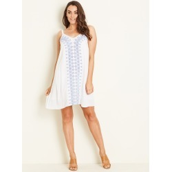 Crossroads Embroidered Dress - White - 8 found on Bargain Bro from Noni B Limited for USD $7.10