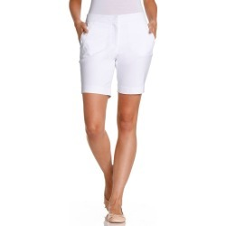 Capture Button Detail Bengaline Short - White - 18 found on Bargain Bro from Katies for USD $5.92