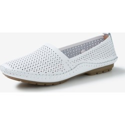 Rivers Leathersoft Lasercut Flat - White - 41 found on Bargain Bro India from Rockmans for $21.72