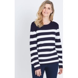 W.lane Eyelet Lacing Detail Pullover - French Navy Stripe - XS found on Bargain Bro India from Noni B Limited for $28.97