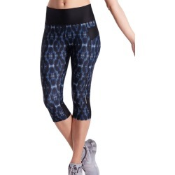 Lasculpte Women's Printed Capri Tights With Zip Pocket - Blue Print - 12 found on Bargain Bro from Noni B Limited for USD $29.35