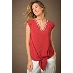 Grace Hill Tie Front Top - Copper - 8 found on Bargain Bro from crossroads for USD $7.73