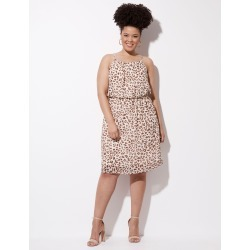 Crossroads High Neck Georgette Dress - Leopard - 8 found on Bargain Bro India from W Lane for $13.90