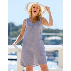 Rivers Linen Blend Tank Dress - Chambray - 10 found on Bargain Bro from Noni B Limited for USD $16.90