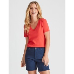 Sslv V Neck Tee - Ruby - XS found on Bargain Bro India from W Lane for $7.62