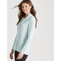 W.lane Diagonal Cowl Pullover - Mint Marl - XS found on Bargain Bro from Noni B Limited for USD $22.90