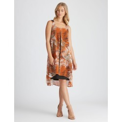 Rockmans Woven Layer Dress - Rust Multi - 8 found on Bargain Bro Philippines from crossroads for $14.14