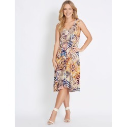 Rockmans Sleeveless Pintuck Midi Dress - Palm - 8 found on Bargain Bro from Katies for USD $10.66