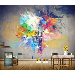 Aj Wallpaper 3d Colored Light Bulb 1118 Wall Murals Removable Wallpaper Self-adhesive Vinyl - Multi - XXXL found on Bargain Bro from Rockmans for USD $288.65