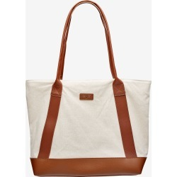 Rivers Canvas Tan Tote Handbag - Natural - ONE found on Bargain Bro from BE ME for USD $11.27