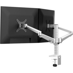 Todo Aluminium Dual Monitor Stand Desk Clamp Mount Bracket Vesa 75-100mm 2 Arm - Silver - One found on Bargain Bro from Noni B Limited for USD $99.22