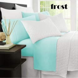 Ramesses Original 2000tc Cooling Bamboo Sheet Set - Frost - Queen found on Bargain Bro from Noni B Limited for USD $31.19