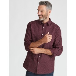 Rivers Geo Print Shirt - Tawny Port/white - Tawny Port/white - S found on Bargain Bro India from W Lane for $27.08