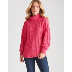 Rockmans Long Sleeve Pink Cable Knit - Hot Pink - XS found on Bargain Bro India from Rockmans for $27.99