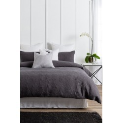Camille Quilted Duvet Cover Set - Slate - Super King found on Bargain Bro from Noni B Limited for USD $46.97