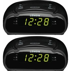 Lenoxx Am/fm Alarm Clock Radio 2pk - Black - One found on Bargain Bro from Rivers for USD $26.36