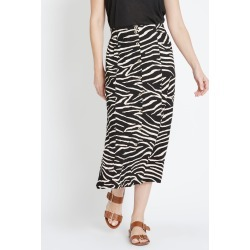 Rivers Button Through Maxi Skirt - Beige Zebra - 16 found on Bargain Bro from Noni B Limited for USD $7.05